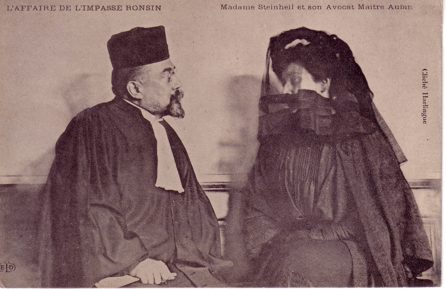 Madame Steinheil and her lawyer Maitre Aubin