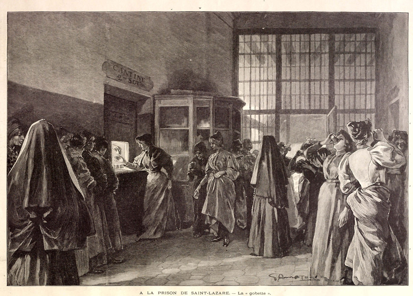 Prisoners at the Prison Cantine