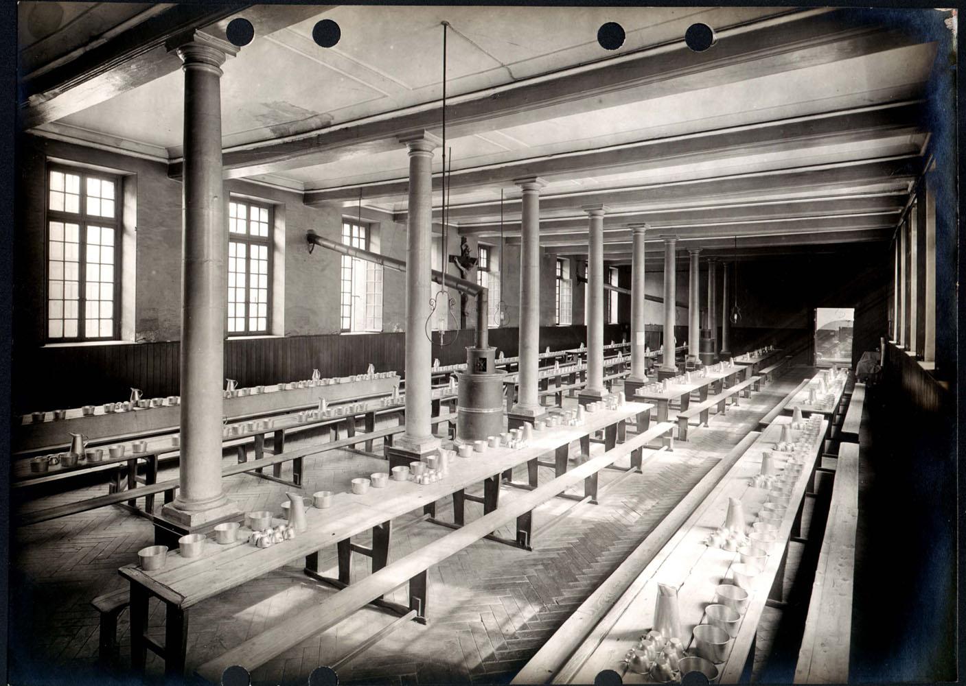 Prison Saint-Lazare, Interior View, Refectory.