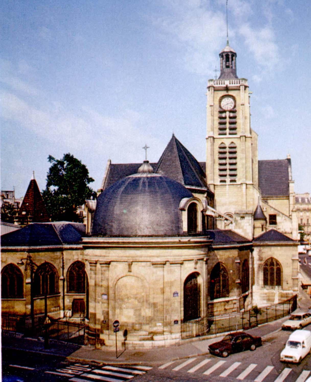 The apse of Saint-Laurent