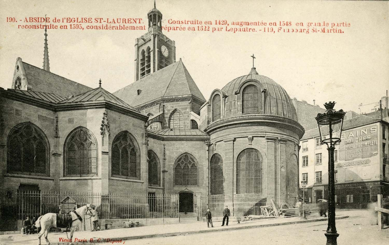 The façade of Saint-Laurent