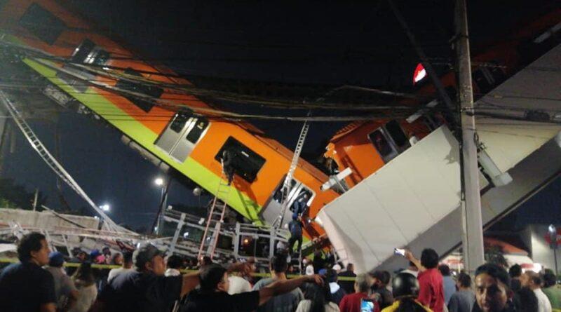 SE CAYÓ EL CONVOY DE LA LÍNEA 12 DEL METRO EN LA CIUDAD DE MÉXICO