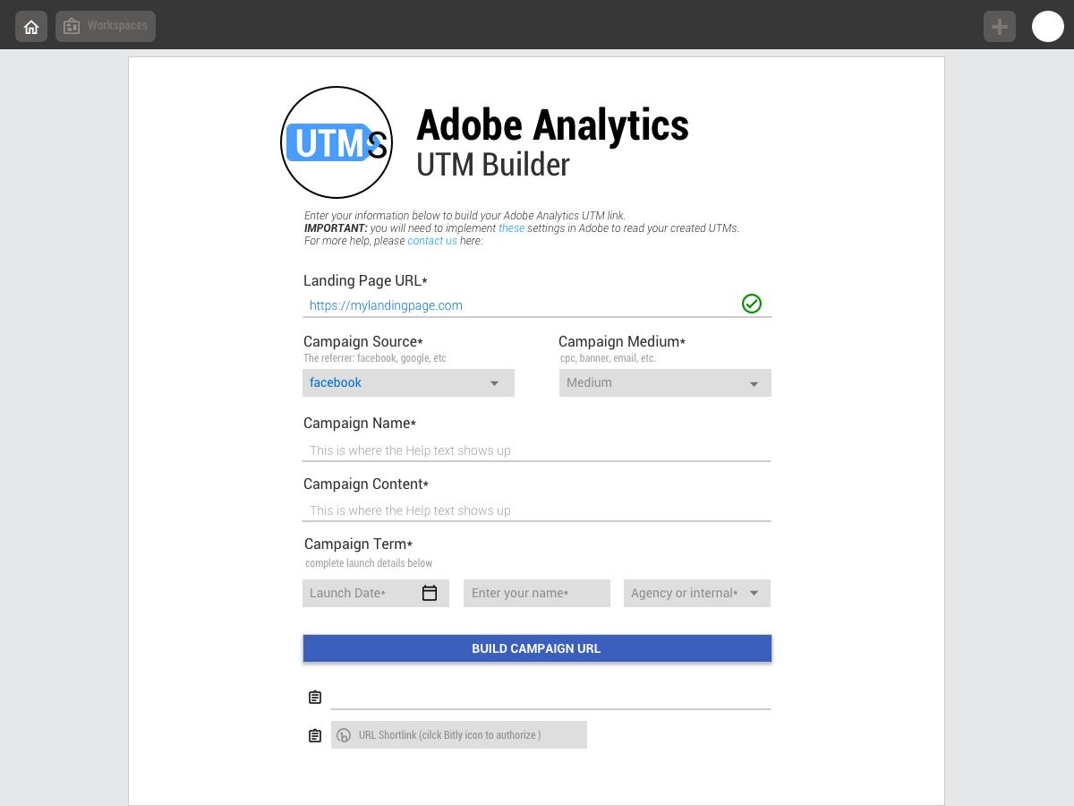 adobe analytics utm builder