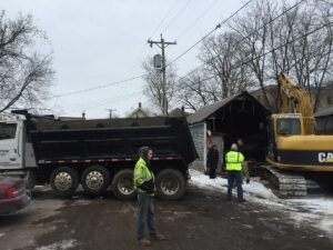 peterson-excavating-and-landscaping-duluth-minnesota-garage-fire-demolition