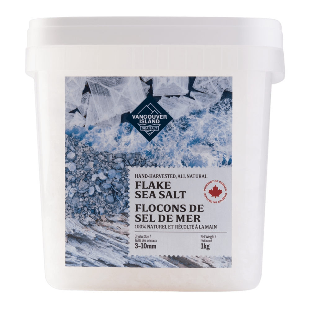 Vancouver Island Flake Sea Salt - 1kg Chef's Bucket
