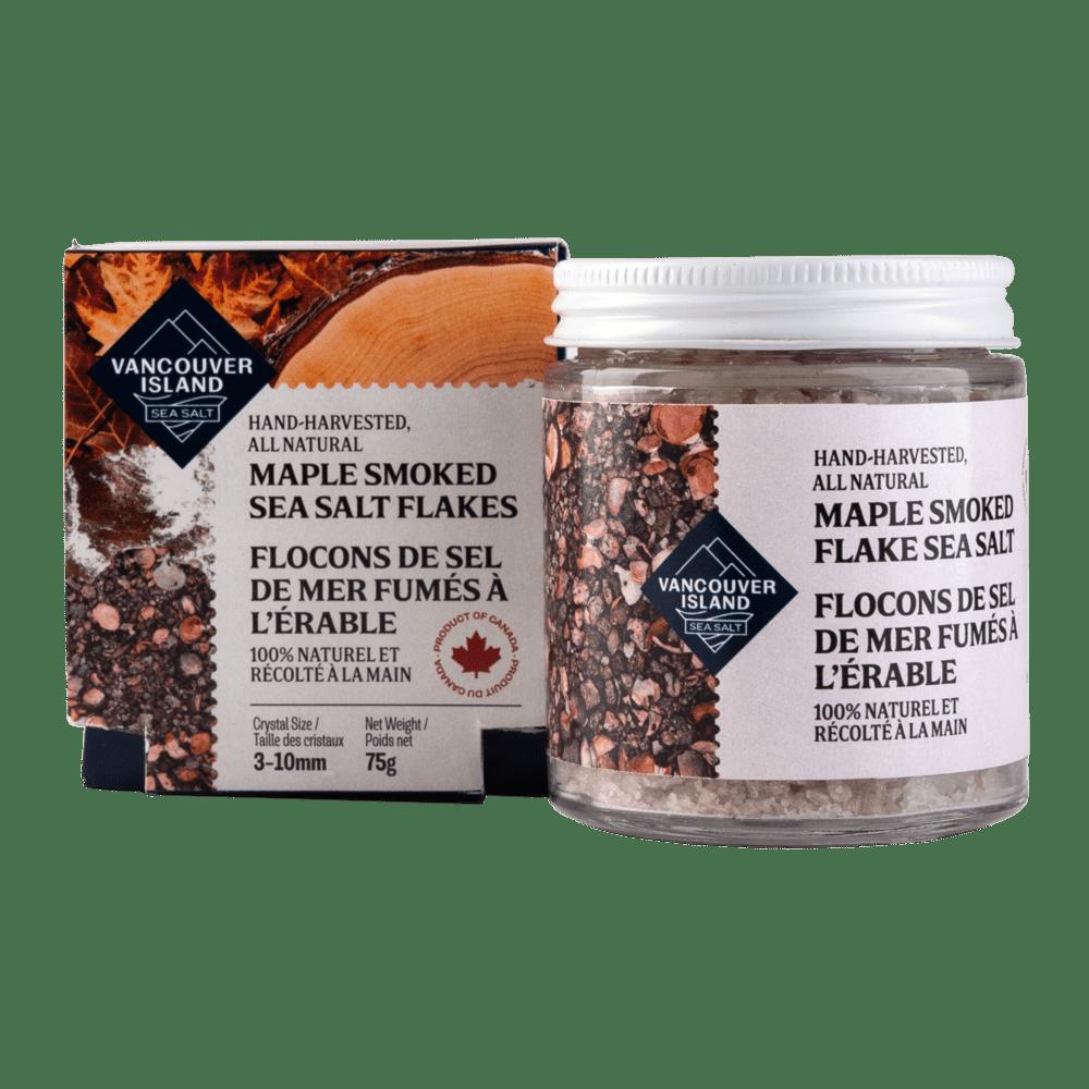 Maple Smoked Vancouver Island Sea Salt Flakes