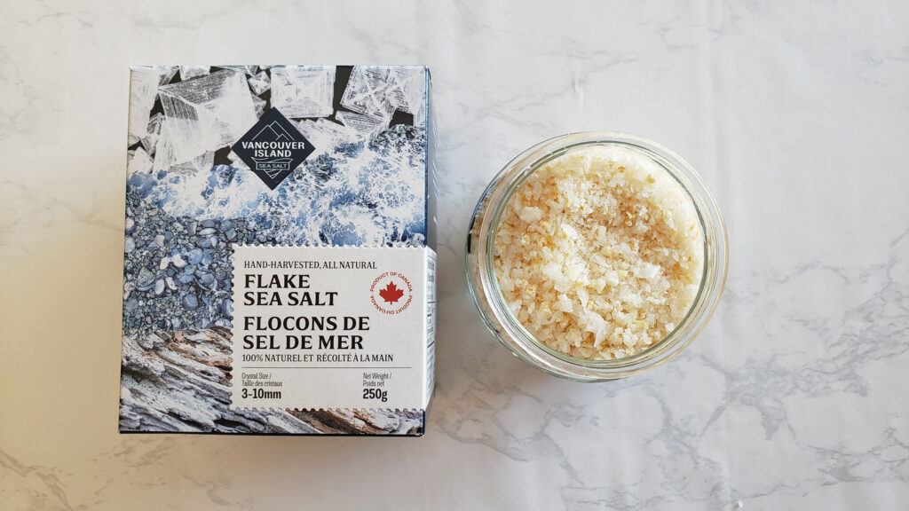 Homemade Roasted Garlic Sea Salt with Vancouver Island Sea Salt Flakes