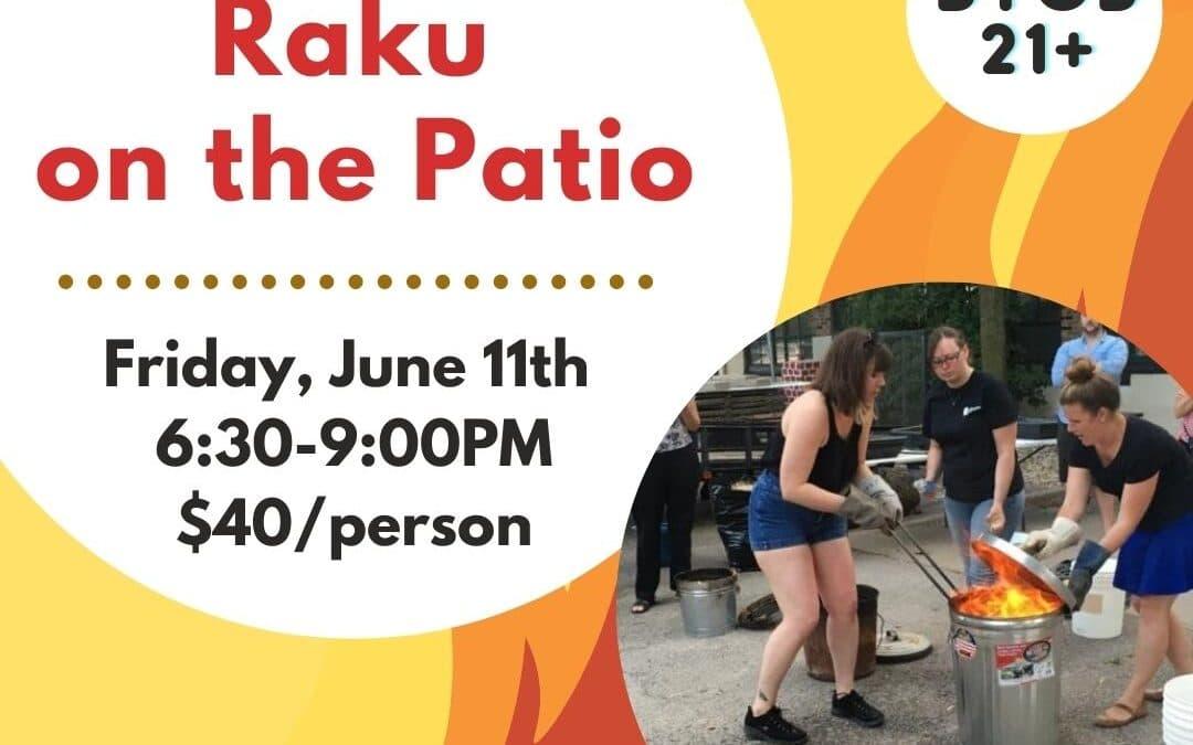 Friday Night Out: Raku Firing on the Patio