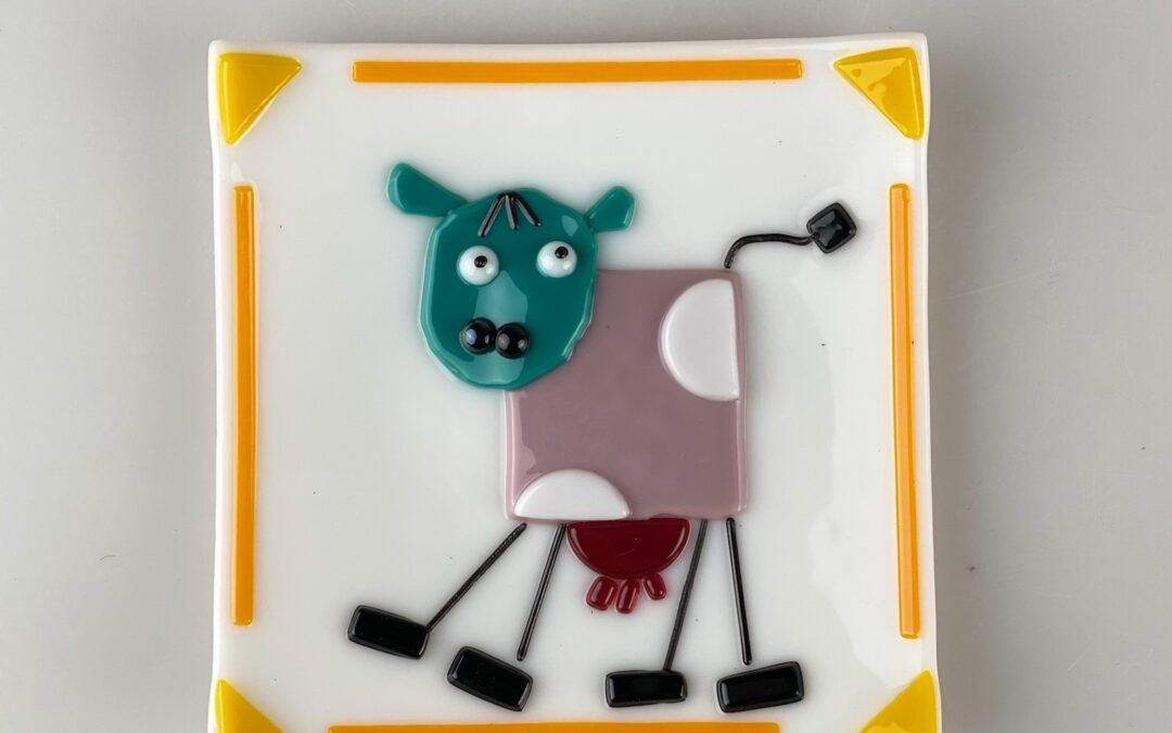 Glass Wacky Animal Plate Summer Workshop (8A1GF)–SOLD OUT