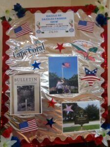 Blue Star Memorial Marker Poster at the Garden Club of Cape Coral Meeting