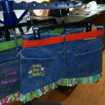 Garden Club of Cape Coral embroidered upcycled jeans