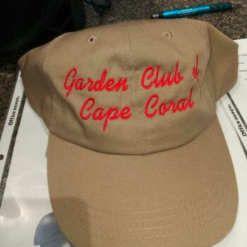 Garden Club of Cape Coral embroidered hats