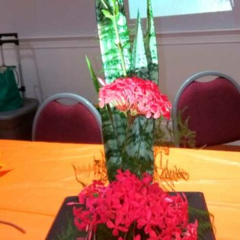 Travelling Flower Arrangement for November 2019 meeting Garden Club of Cape Coral