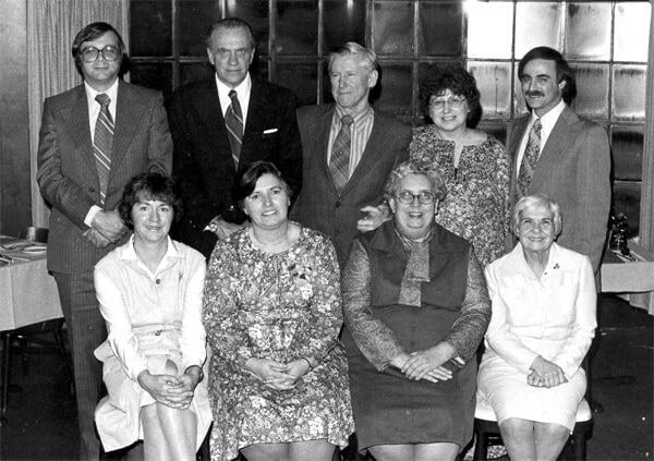 A group photo of the first families who founded SARAH Inc.