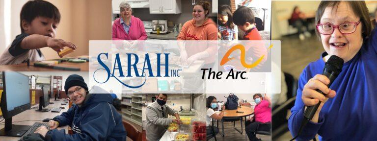 Banner with SARAH Inc. and The Arc logo
