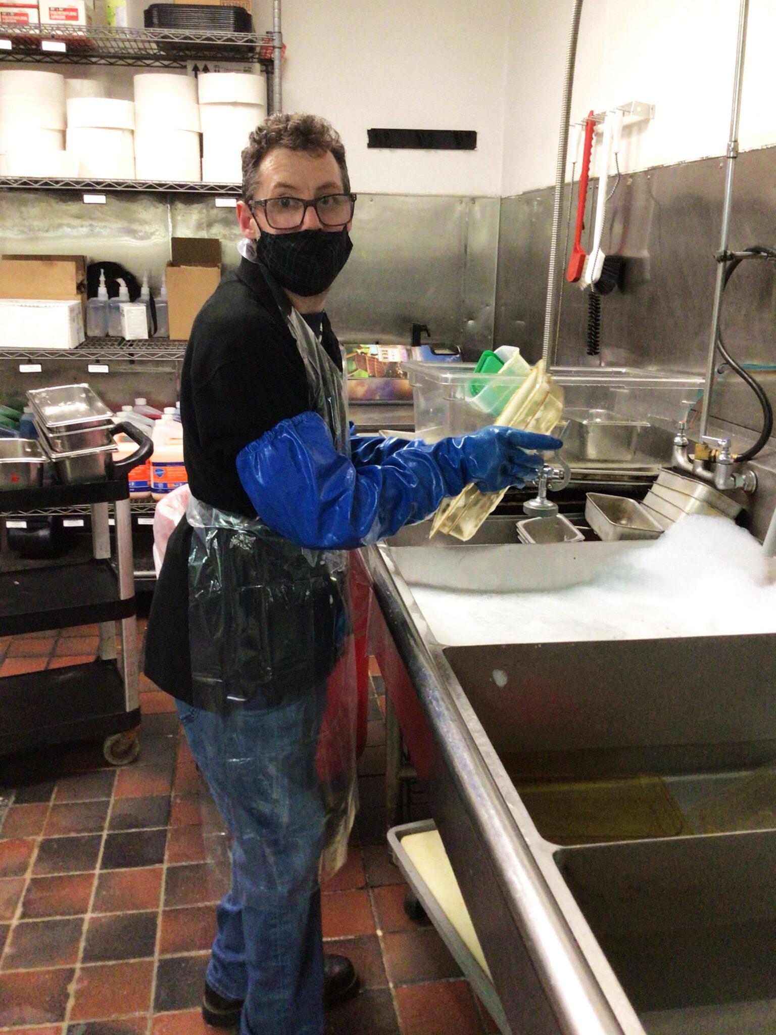 Joe P. working at Boston Market