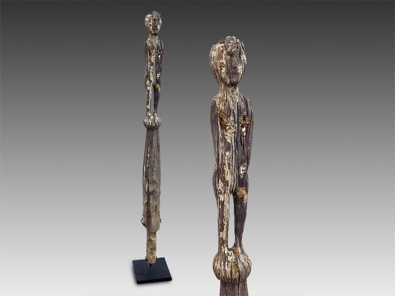 Primitive Folk Art piece - Small ironwood hampatong statue from the Dayak tribe of Borneo