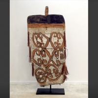 Primitive Folk Art piece - Warrior Shield from the Asmat tribe of Papua New Guinea
