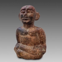 Primitive Folk Art piece - Very rare shaman healing stone from the Batak tribe of Sumatra, Indonesia