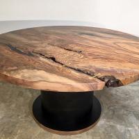 5' single plank walnut dining table
