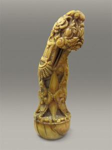 kris knife handle ivory
