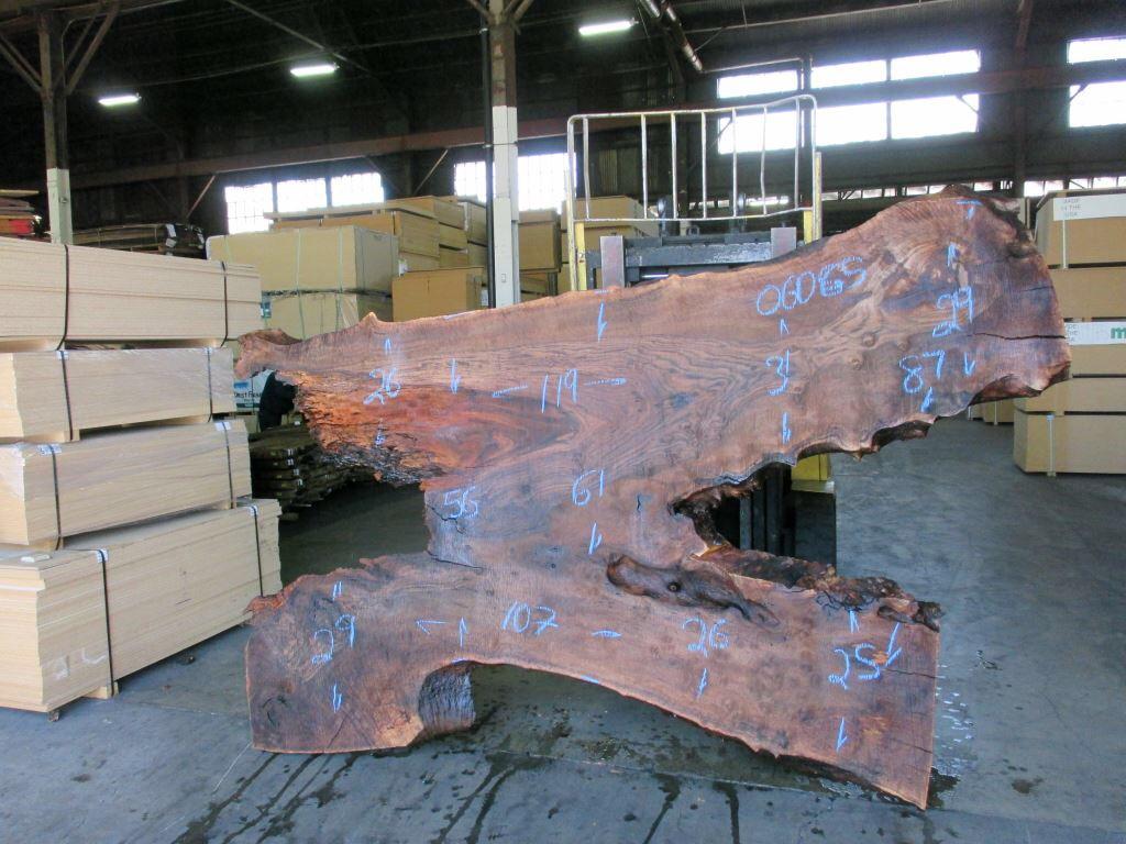 Custom Round Slab Table Concept – Figured Bastogne Walnut and Steel