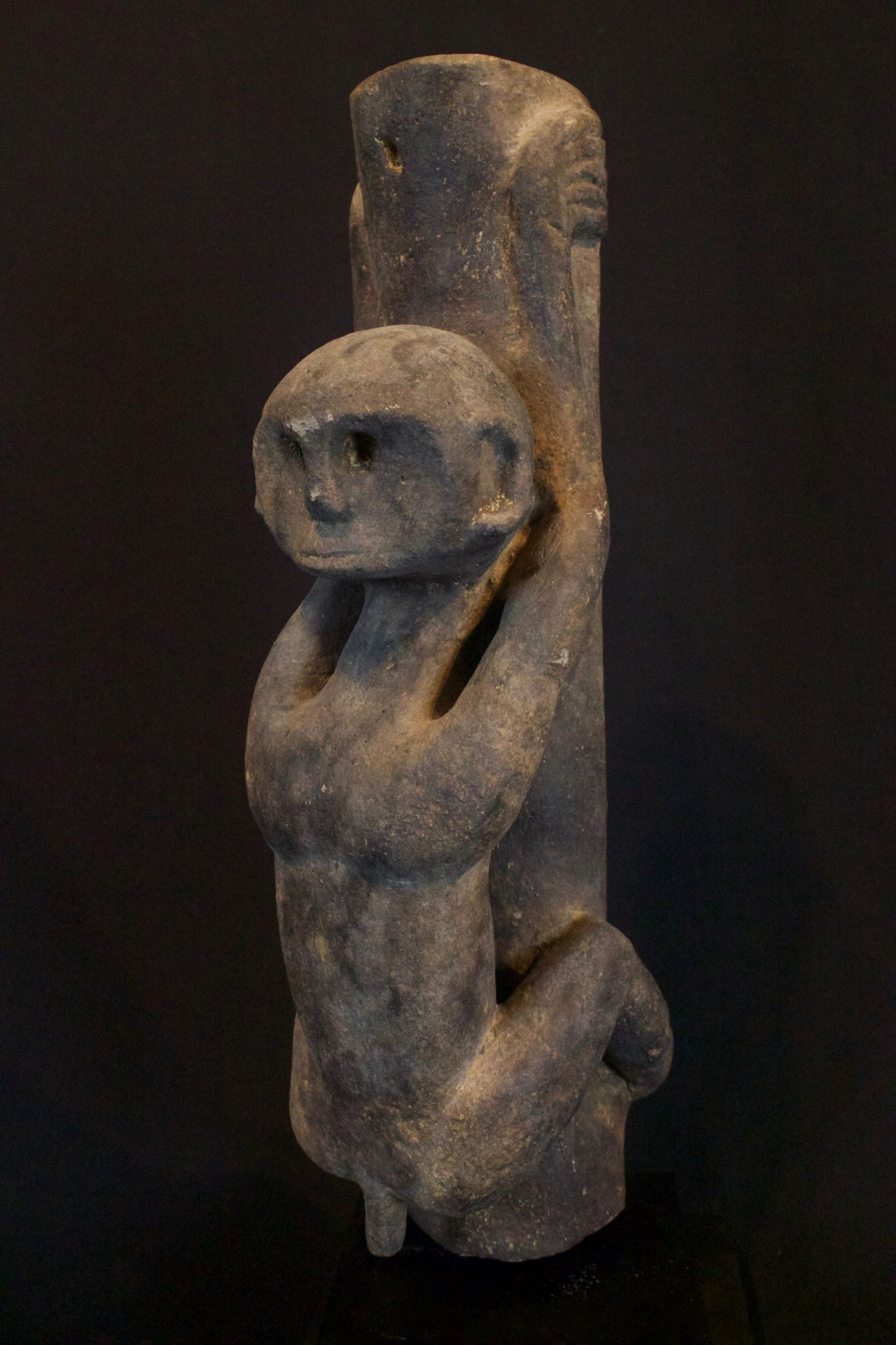 "God Effigy (rare), Mentawai Islands, Sumatra, Indonesia, Mentawai tribe, 19th c, Wood. Used as a symbol to pray to. 15 ½"" x 3 ½"" x 6"", $1600."