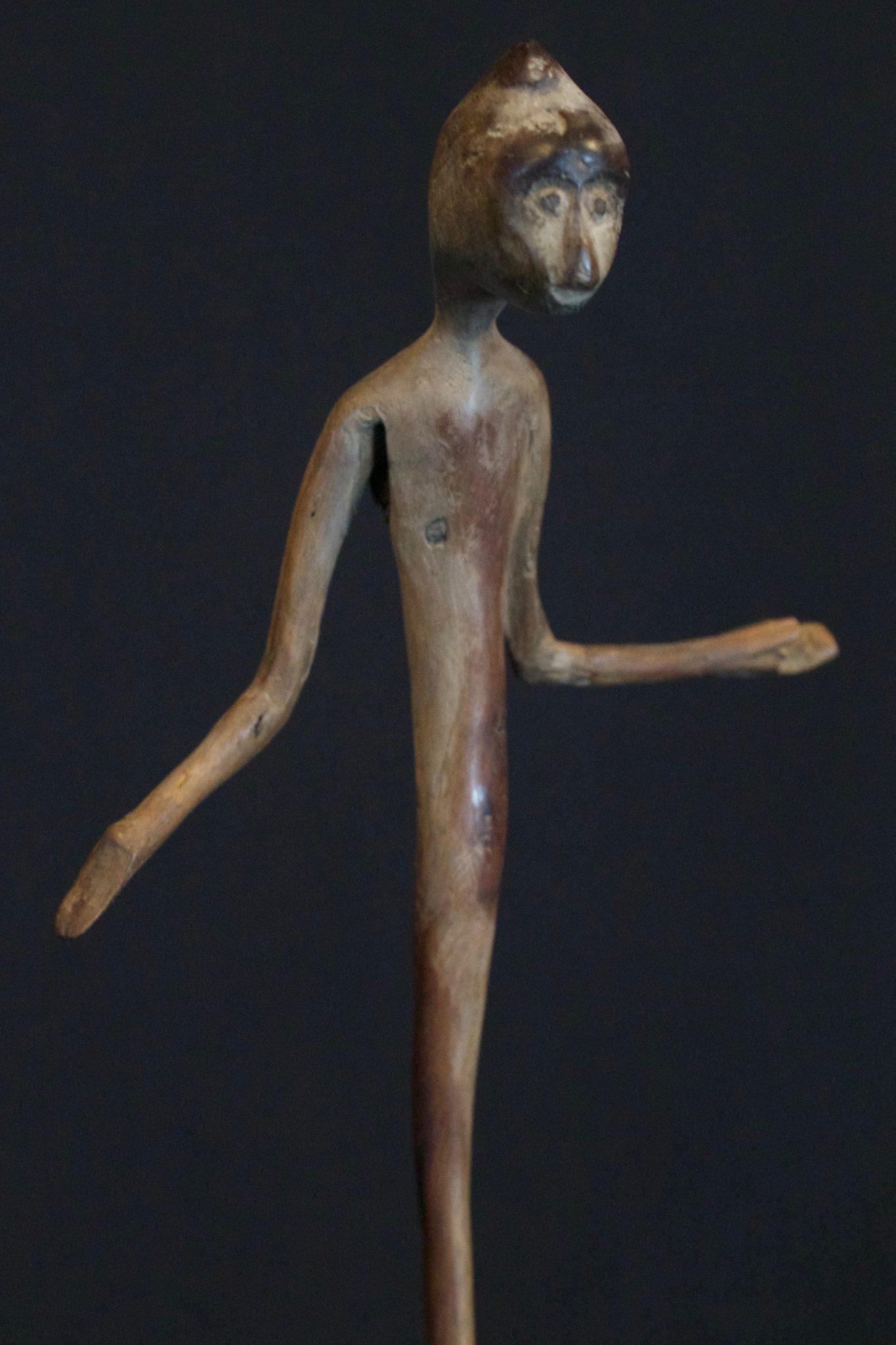 Magic Amulet/Talisman Figure, West Sumba Island, Lesser Sunda Islands, Indonesia, Anakalang village Mid 20th c, Wood Magic amulet used for healing rituals. Sold