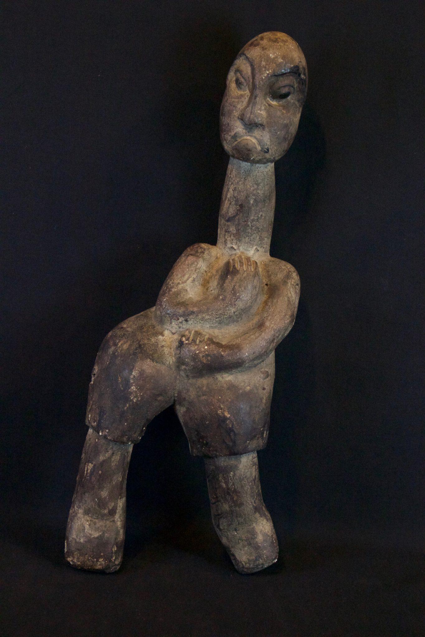 "Shaman Magic Figure, Lombok Island, Lesser Sunda Islands, Indonesia, Mid 20th c, Wood, paint. Used for calling spirits and for healing rituals. 16"" x 6"" x 4"", $360."