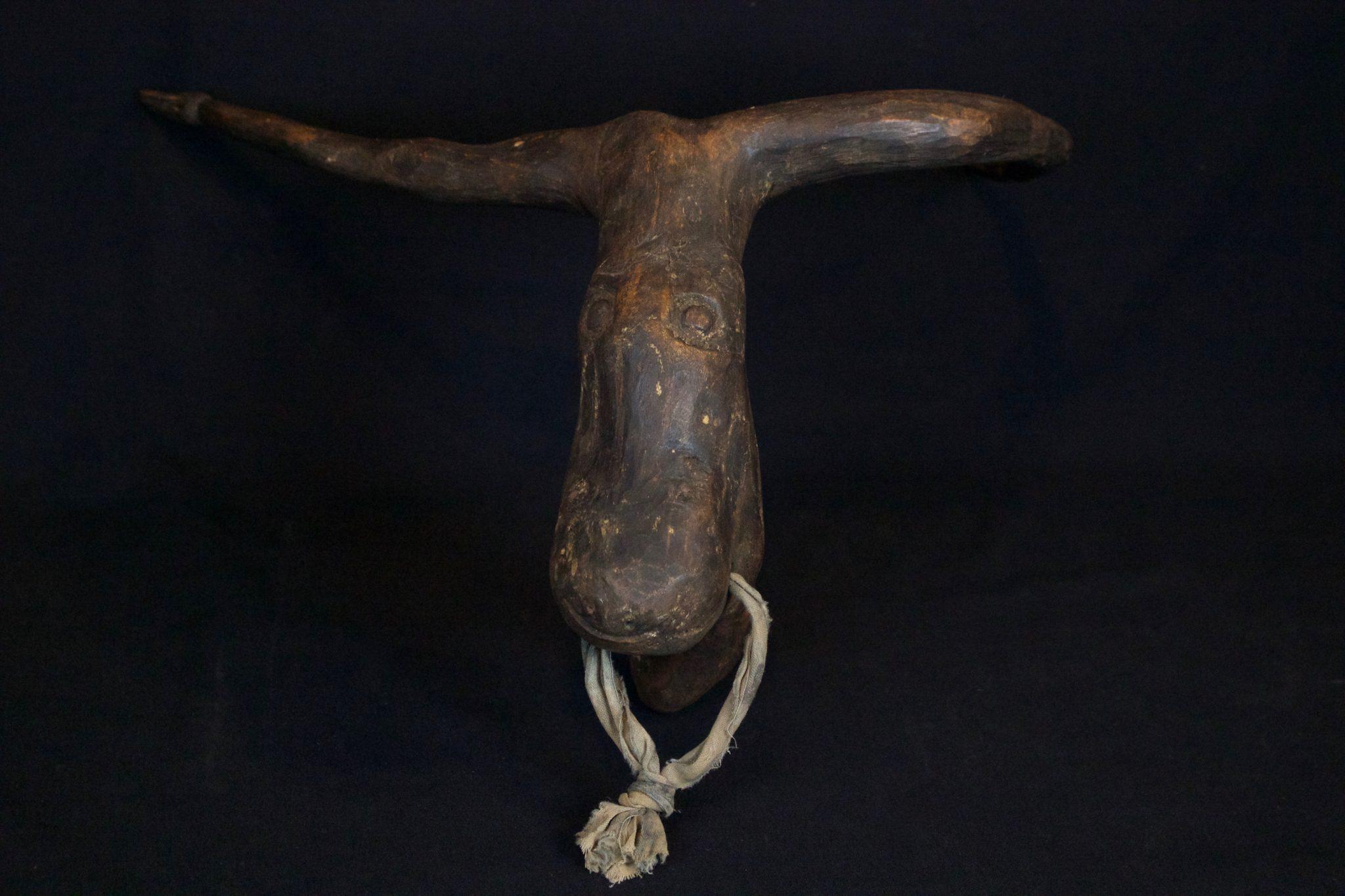 "Shaman Healing Amulet/Talisman - Cow, Octopus, Monkey, Bird West Sumba Island, Lesser Sunda Islands, Indonesia Early 20th c, Wood. Used in healing rituals, 10"" x 16"" x 13"", $600."