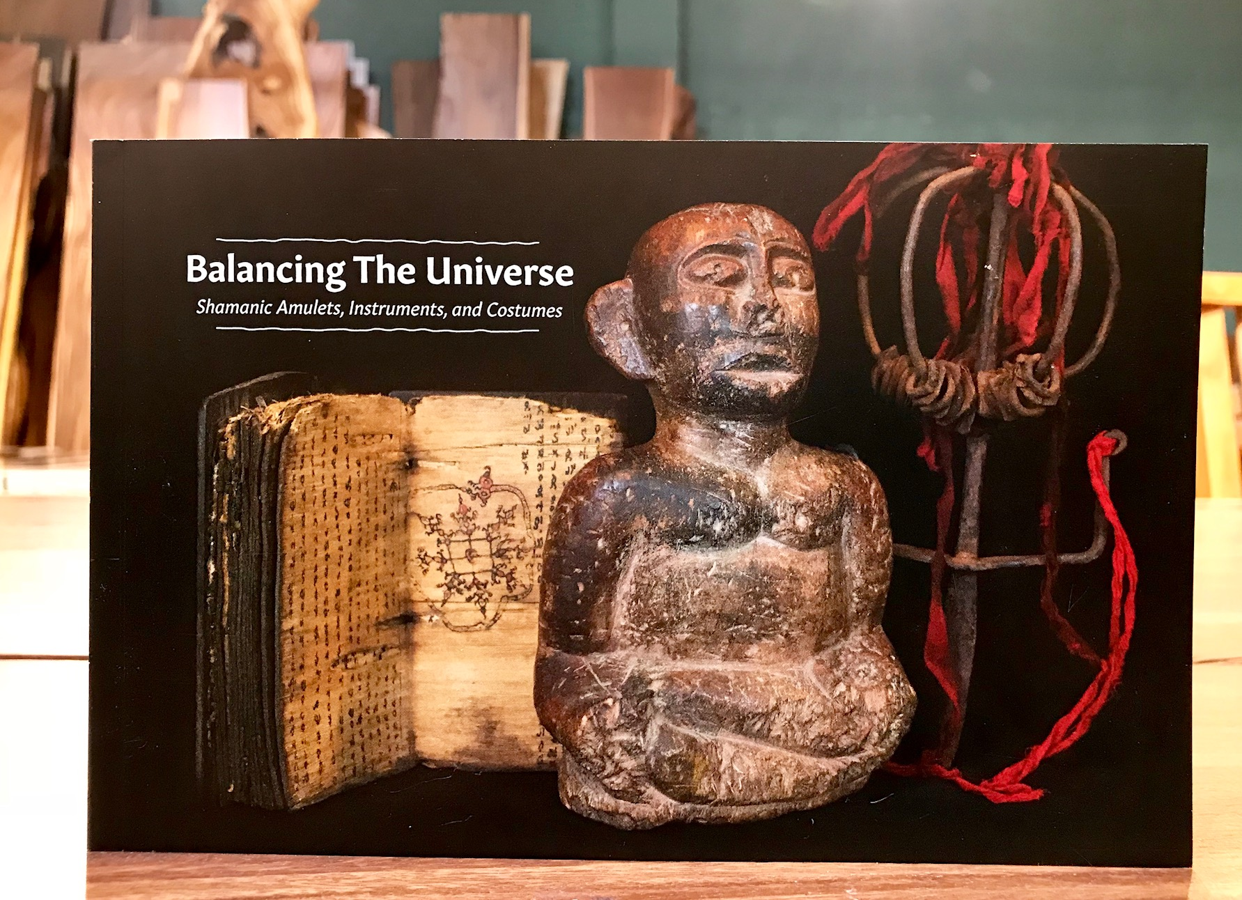 The catalog includes a dedication and personal forward from the collector, David Bardwick, of the David Alan Collection, and text on the history of Shamanism and of shamanism specific to each of the locations/cultures represented.
