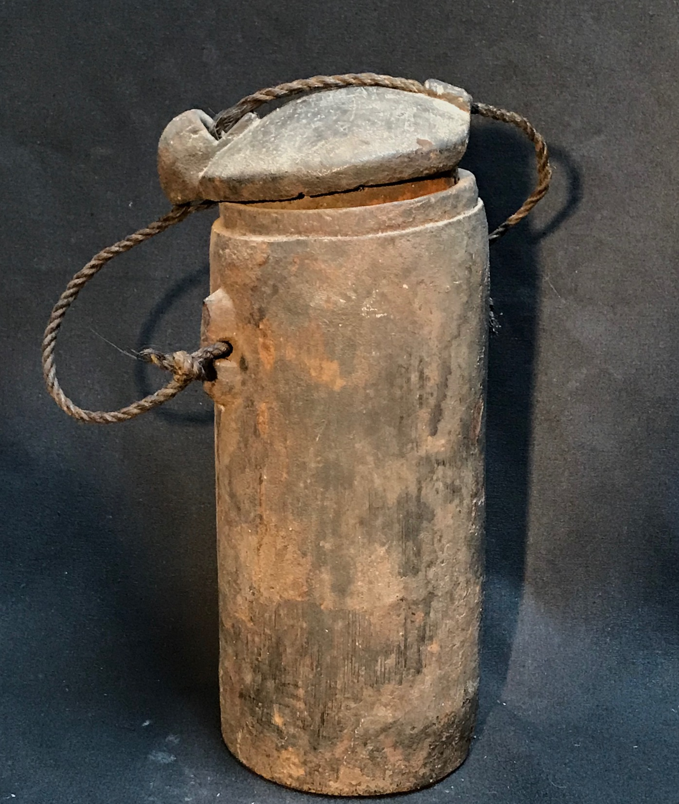 "Shaman's medicine jar, for healing herbs and substances. Sumba Island, Indonesia, early 20th c. bamboo, wood, twine, 12"" x 4 1/2"", $"