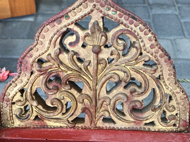 detail of end riser top_Traditional Burmese Xylophone or Pattala