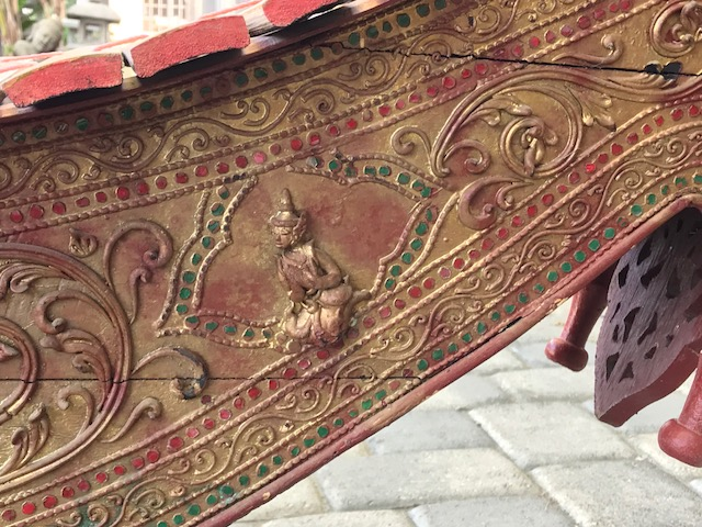 detail of side panel_Traditional Burmese Xylophone or Pattala