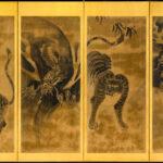 Japan Six-Panel Tiger Byobu Wall-Mount
