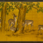 Six-Panel Gold Deer Byobu