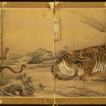 Six=Panel Two Tiger Byobu