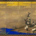 Six-Panel Shore Dogs Byobu