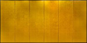 Six-Panel Gold Gilt Byobu