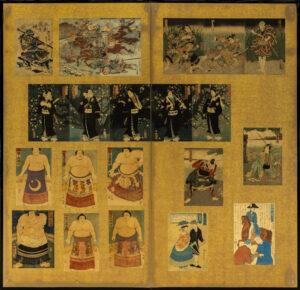 Two-Panel Collage Byobu