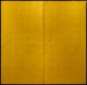 Two-Panel Gold Gilt Byobu
