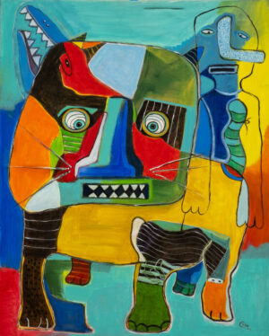 Untitled Painting by Lindu Parsekti