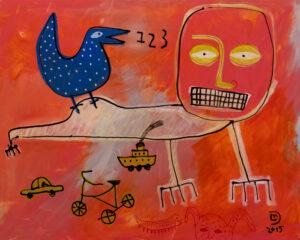 Utitled Painting by Lindu Prasekti