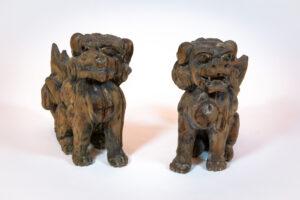 Pair of Foo Dogs (Shishi or Komainu in Japanese)