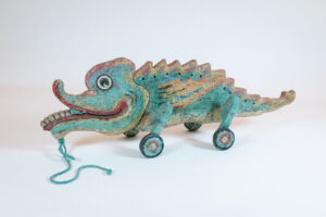 Indonesia Contemporary Animal Sculpture Pull Toy Shelf-Top
