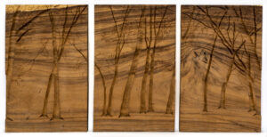 """Forest"" Studio Carving (triptych), David Alan Original Design"