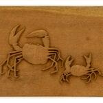 """Sandy Crabs"" Studio Carving, David Alan Original Desing"