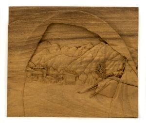 """Foothills Encampment"" Studio Carving, David Alan Original Design"