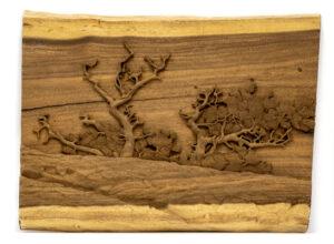"""Pine Tree"" Studio Carving, David Alan Original Design"