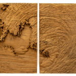 """Wave"" Studio Carving (pair), David Alan Original Design"
